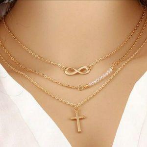Cross Infinity Necklace